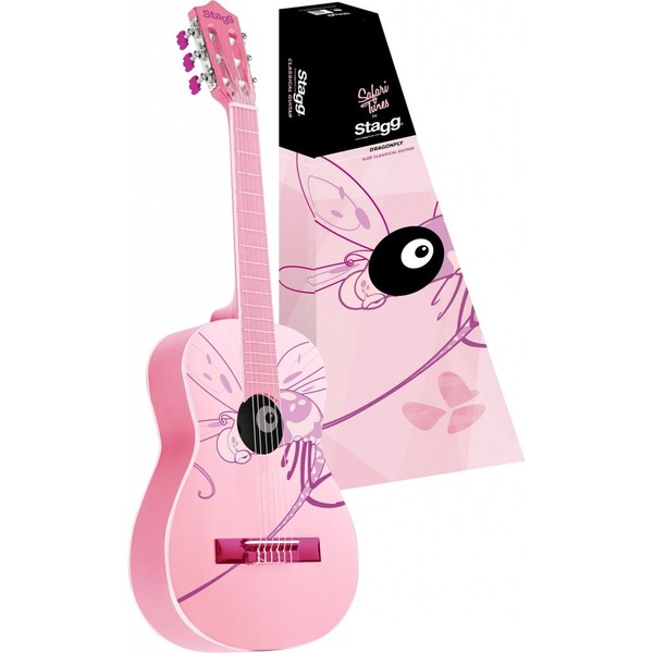 Stagg C530 MONKEY Pink 3/4-size Classical Guitar with Monkey Graphic