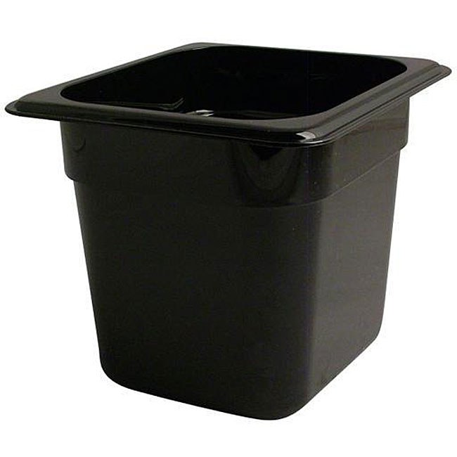 Cambro 6-in Deep Black Sixth-size Pan