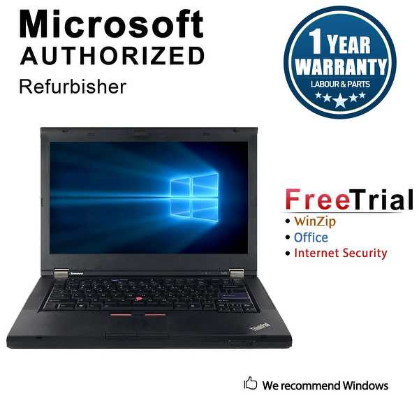 Refurbished Lenovo ThinkPad T420 14' Laptop Intel Core I5 2520M 2.5G 16G DDR3 500G DVDRW Win 10 Professional 64 1 Year Warranty